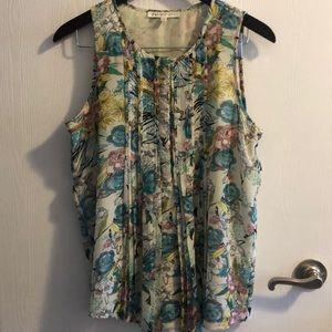 Floral print tunic tank top